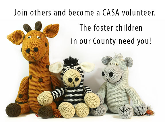 Join others and become a CASA Volunteer.