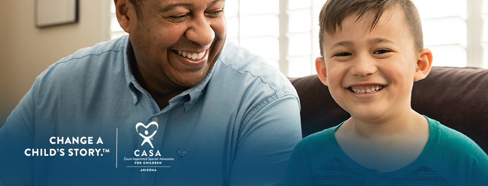Change a child's story by becoming a CASA Volunteer.